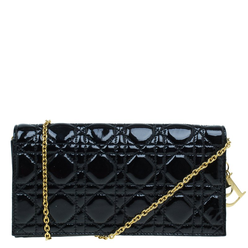 c88a9c033025 ... Dior Black Quilted Cannage Patent Leather Lady Dior Clutch. nextprev.  prevnext