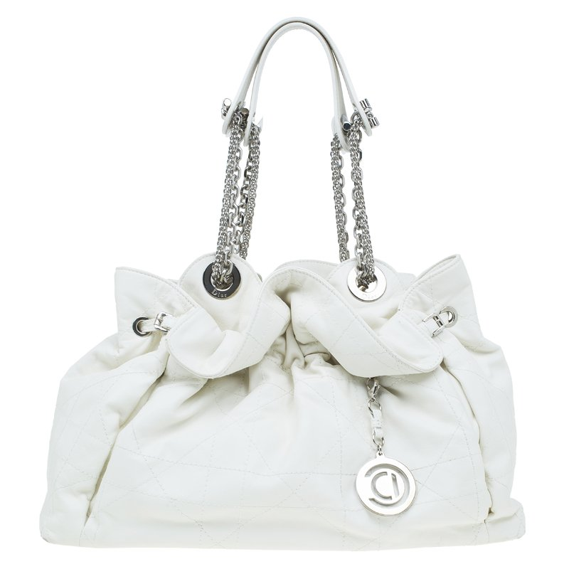 cd33cb7617 ... Dior White Quilted Cannage Leather Le Trente Hobo. nextprev. prevnext