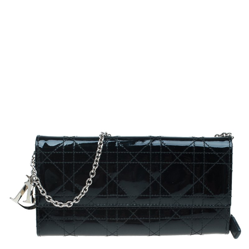 ... Dior Black Cannage Patent Leather Wallet on Chain. nextprev. prevnext 22e86797a5ec5