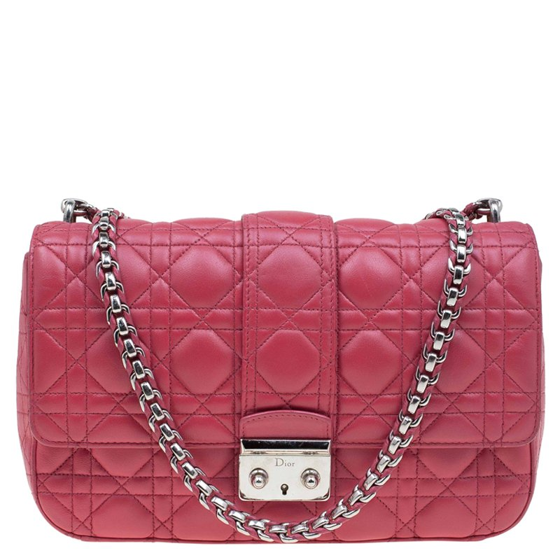 5140cf86940 Buy Dior Red Cannage Leather Miss Dior Medium Flap Bag 77915 at best ...