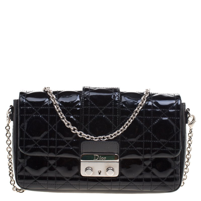 78850b41de Buy Dior Black Patent Leather Miss Dior Promenade Pouch 99230 at ...