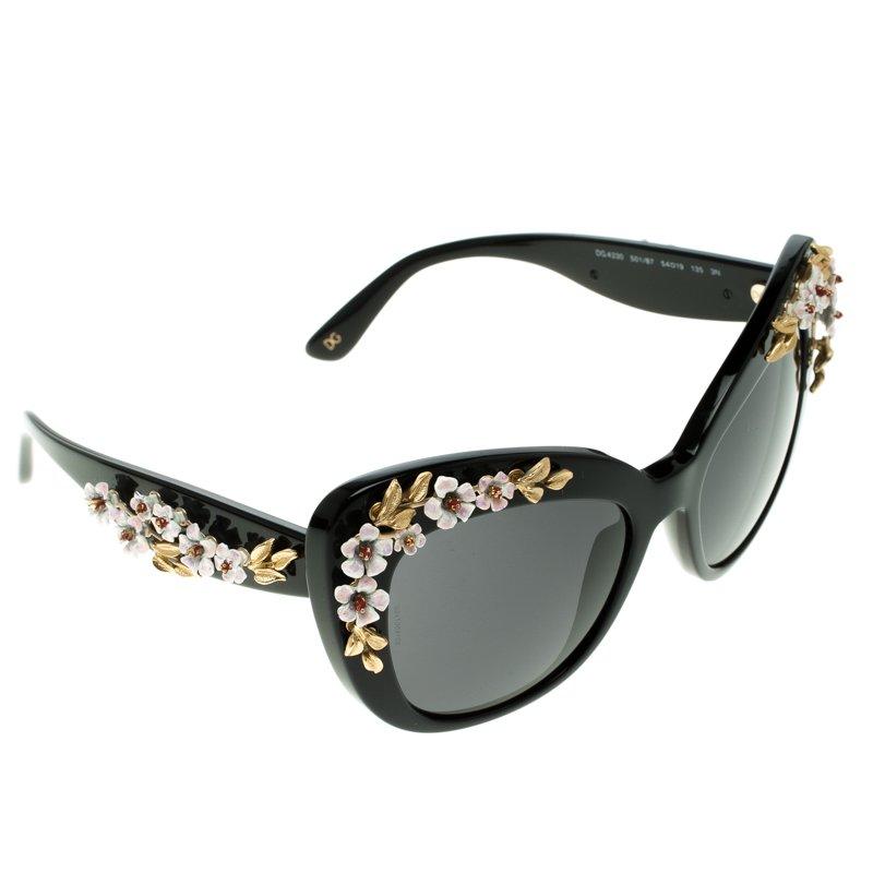 186b9d3ef327 ... D&G Black DG4230 Flower Embellished Cat Eye Sunglasses. nextprev.  prevnext