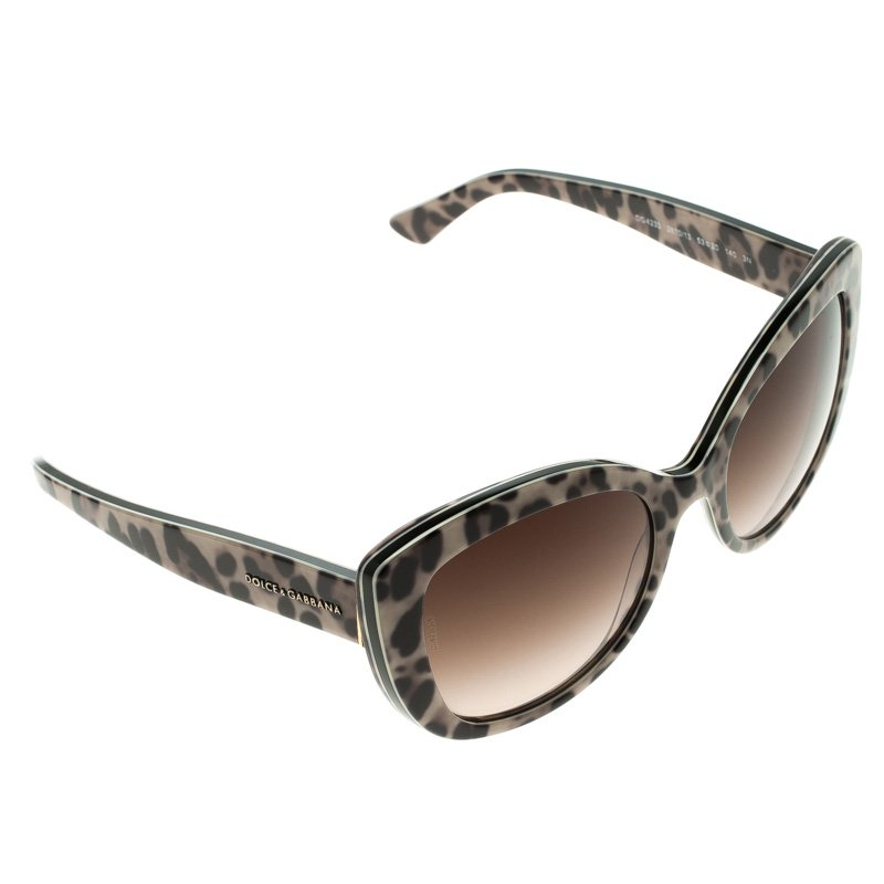 bb7c3f1bc4cf ... Dolce and Gabbana Brown DG 4233 Leopard Frame Cat Eye Sunglasses.  nextprev. prevnext