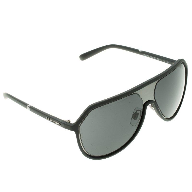 8d69c945e805 Buy Dolce and Gabbana Black DG 6084 Aviator Sunglasses 107206 at ...