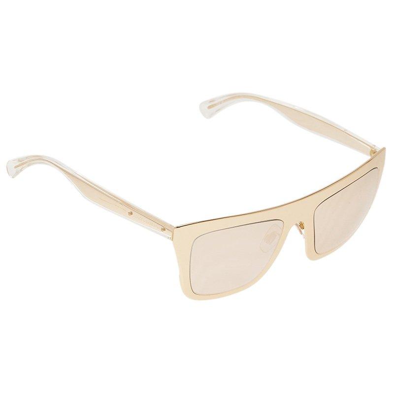 2ac69dee4081 ... Dolce and Gabbana Gold Edition 18K DG2114 Rectangle Sunglasses.  nextprev. prevnext