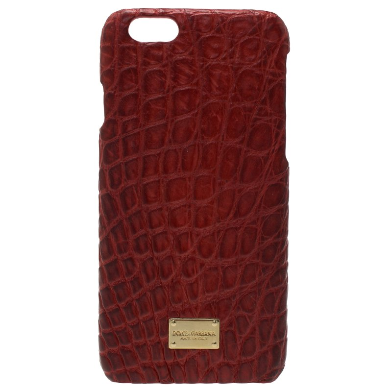 6173d031f1 ... Dolce and Gabbana Red Croc Embossed iPhone 6/6S Case. nextprev. prevnext