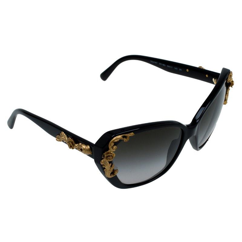 65d73458054 ... Dolce and Gabbana Black Sicilian Baroque Sunglasses. nextprev. prevnext