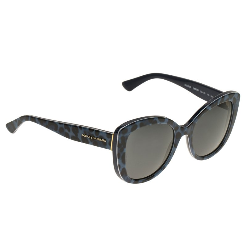 b932c25aecb5 ... Dolce and Gabbana Blue Leopard Frame 4233 Cat Eye Sunglasses. nextprev.  prevnext
