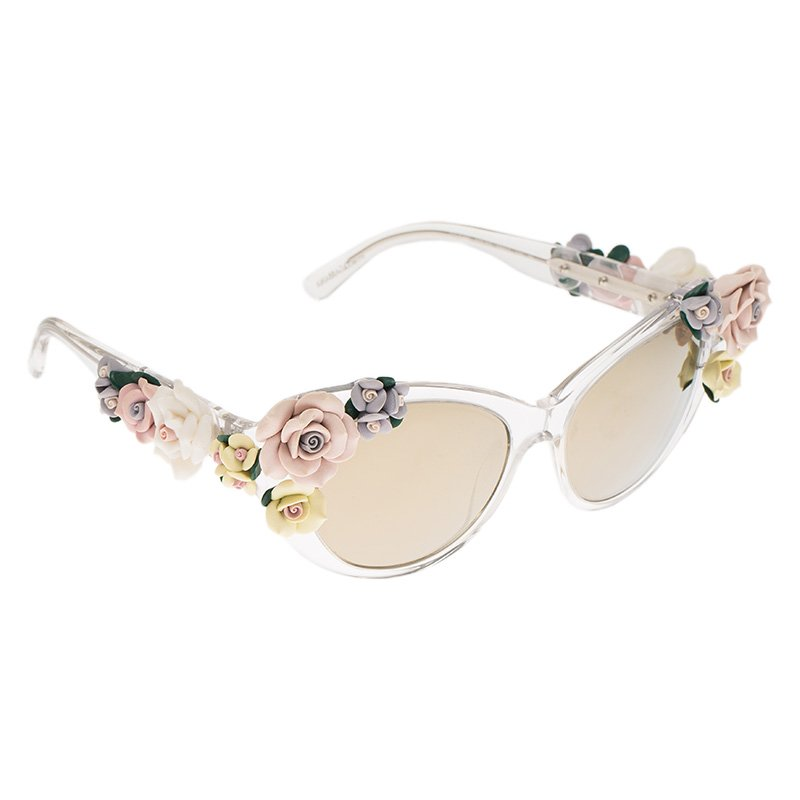 7c7e643c0 ... Dolce and Gabbana DG 4180 Floral Embellished Cat Eye Sunglasses.  nextprev. prevnext