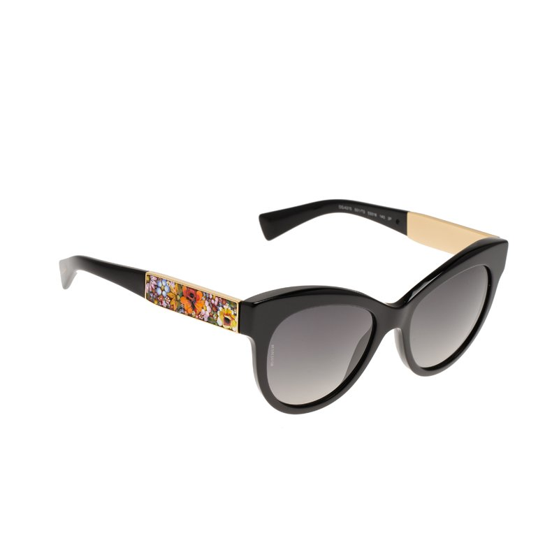 1b1765121 Buy Dolce and Gabbana Mosaico Special Edition Black DG 4215 Cat Eye ...