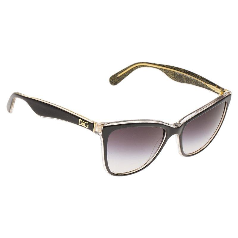 dc320bba553 ... Dolce and Gabbana DG4193 Black   Glitter Gold Cat Eye Sunglasses.  nextprev. prevnext