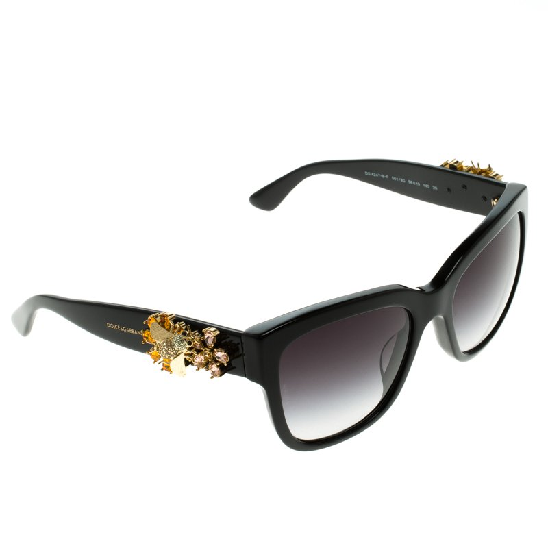 afb1b571ccab ... Dolce and Gabbana Black DG 4247-B-F Embellished Sunglasses. nextprev.  prevnext