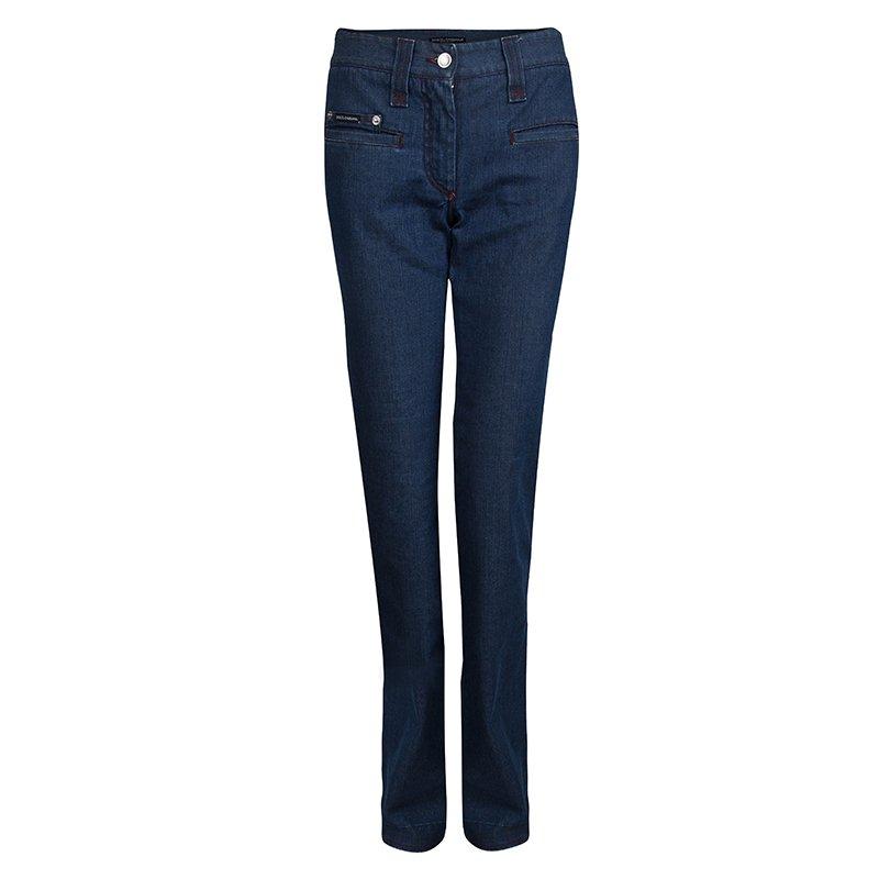 Dolce and Gabbana Indigo Denim Boot Cut Jeans S