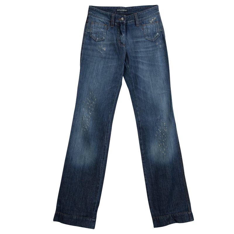 e6cc6510 ... Dolce and Gabbana Indigo Distressed Denim Boot Cut Jeans S. nextprev.  prevnext