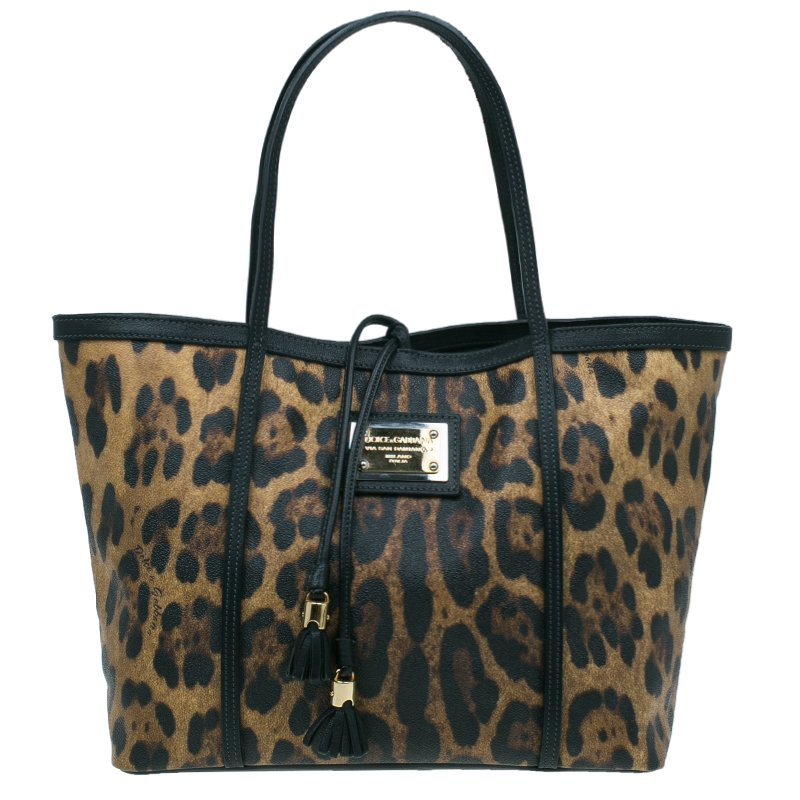 ... Dolce and Gabbana Leopard Print Miss Escape Shopping Tote Bag.  nextprev. prevnext 96d9e09112b3a