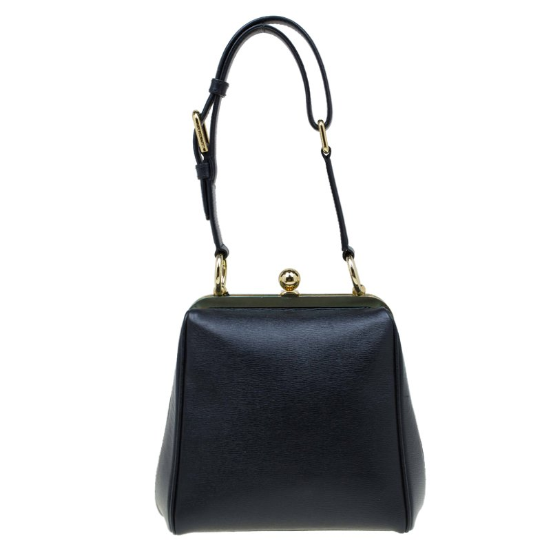 c8e920df5a ... Dolce and Gabbana Black Leather Agata Shoulder Bag. nextprev. prevnext