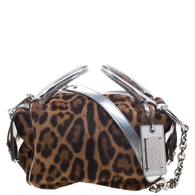 d9f217a64908 ... Dolce and Gabbana Brown Leopard Print Calf Hair Bag. nextprev. prevnext
