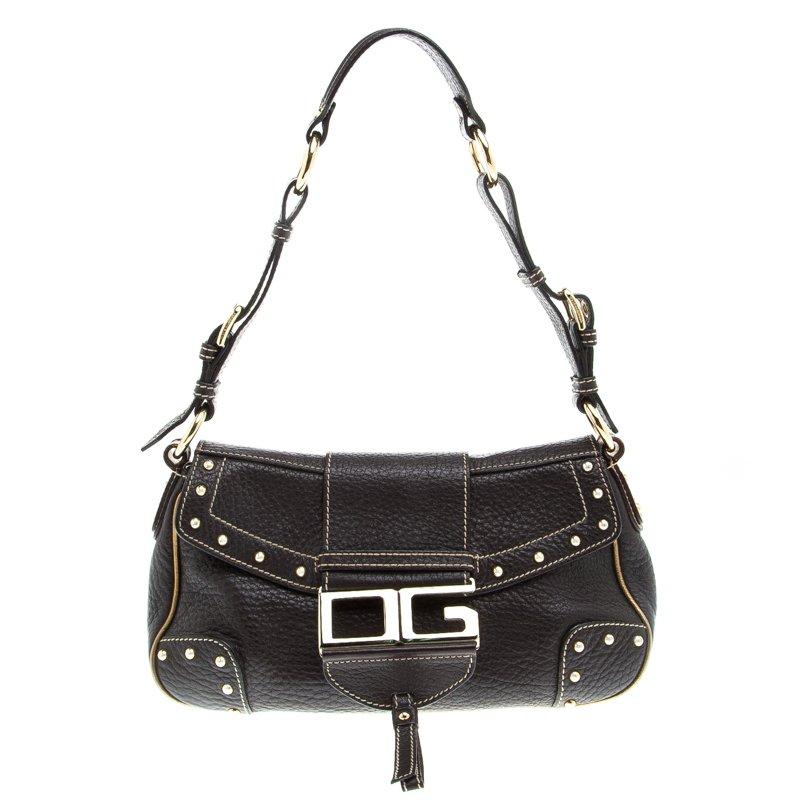 ... Dolce and Gabbana Brown Leather Studded Shoulder Bag. nextprev. prevnext 696c6d2c9ad70