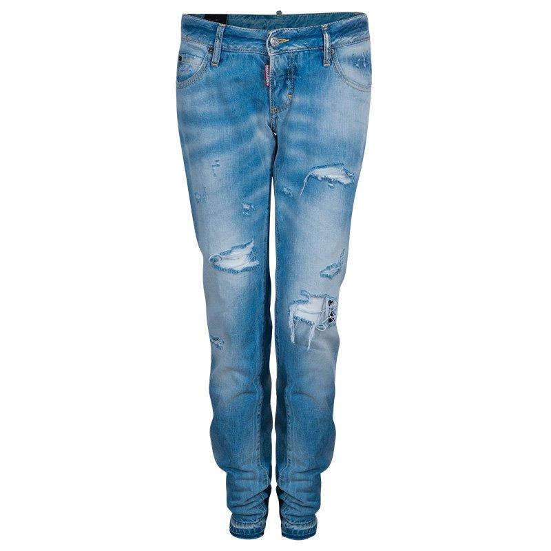 5ecdd535fa ... Dsquared2 Light Blue Distressed Denim Jeans M. nextprev. prevnext