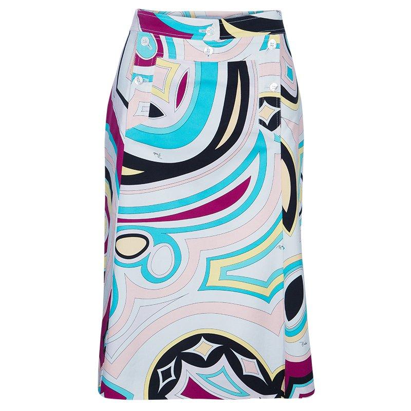 new concept b3f84 aca3e Emilio Pucci Printed A-Line Skirt M
