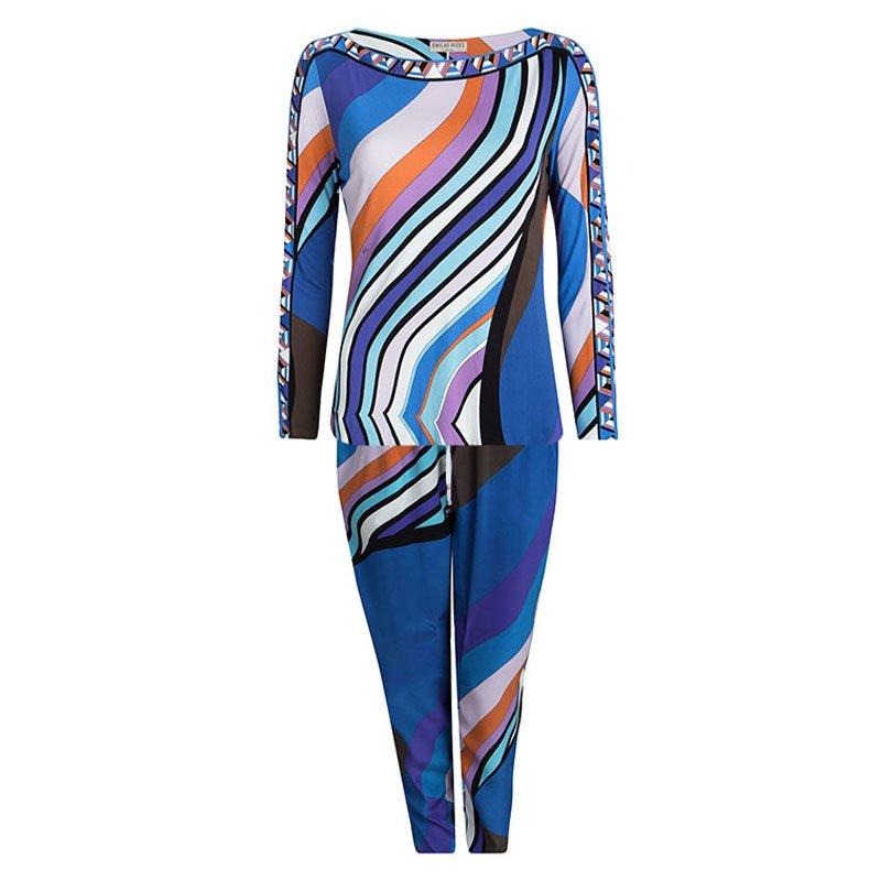 9a315a6fdc9b ... Emilio Pucci Multicolor Printed Top and Pant Set L. nextprev. prevnext