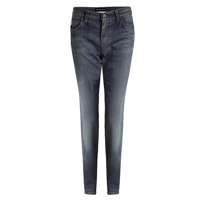 Emporio Armani Indigo Faded Effect Denim Jeans L