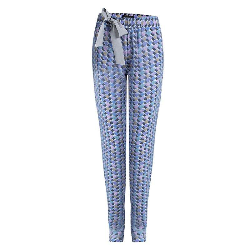 Emporio Armani Multicolor Printed Mesh Overlay Trousers S