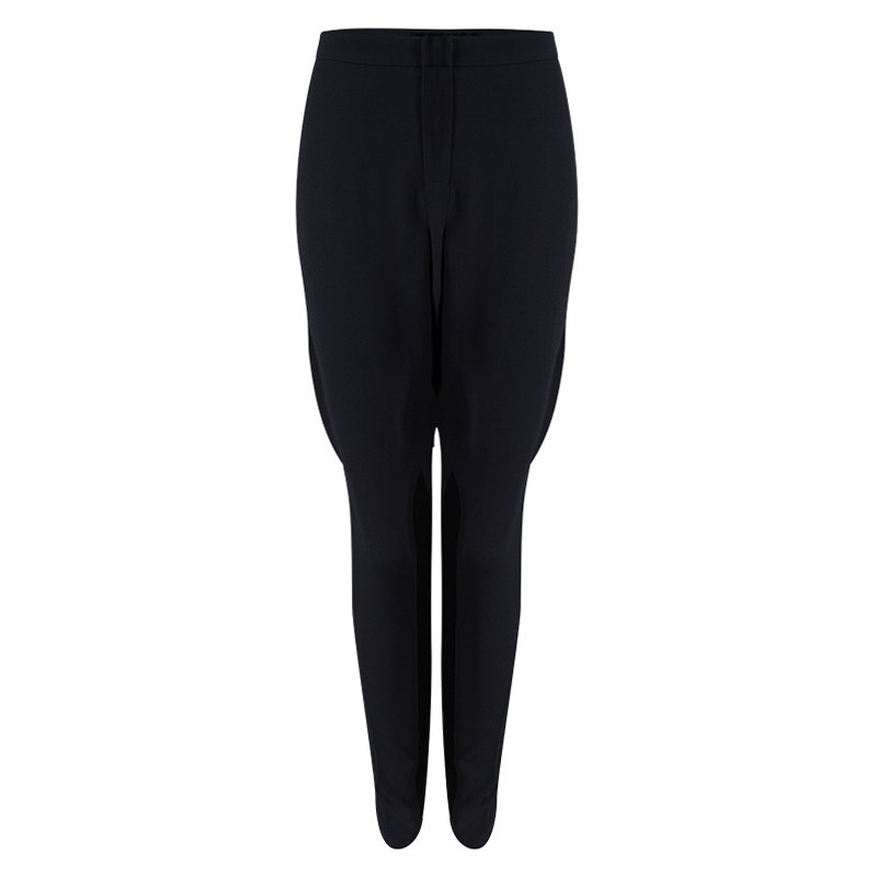 Emporio Armani Grey Contrast Panel Detail Trousers M