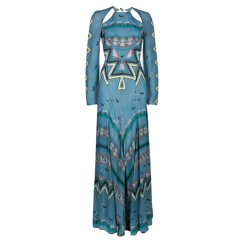 e8d02647c Buy Etro Blue Printed Long Sleeve Maxi Dress S 44969 at best price | TLC