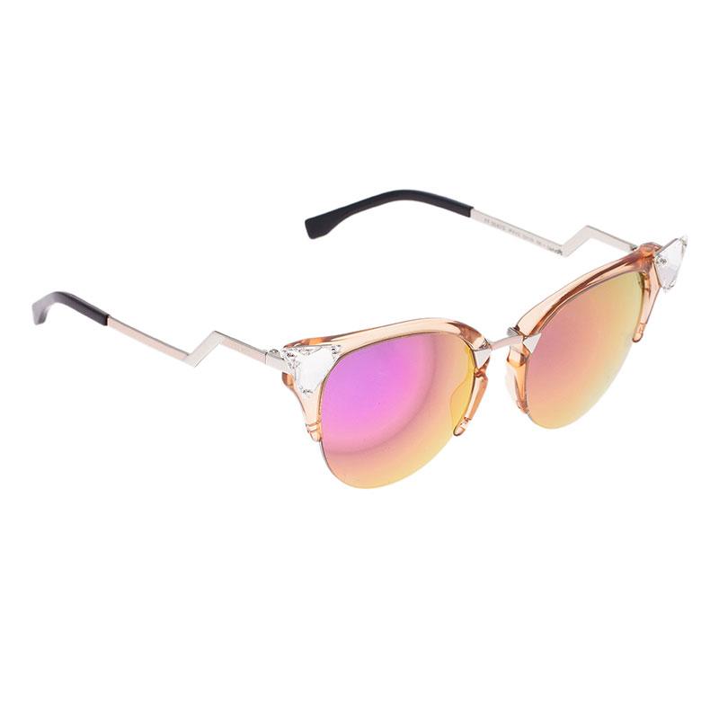 dd21b878dd7c Buy Fendi Gold Zig-zag Cat Eye Sunglasses 39971 at best price