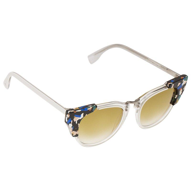 2968548c4c30f Buy Fendi White FF 0074 S Cat Eye Sunglasses 48301 at best price
