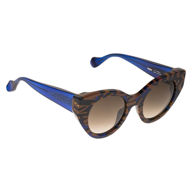 ac9b039383 Fendi Blue and Brown Fanny FF0105/S Cat Eye Sunglasses