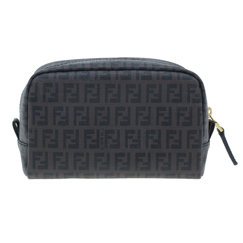 Buy Fendi Brown Zucchino Canvas Cosmetic Pouch 39597 at best price  98af4527e44c5