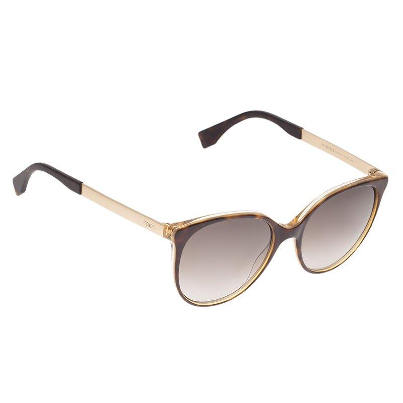 Fendi Tortoise Frame FF0078 Cat Eye Sunglasses