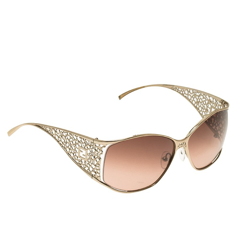 4e5455ca2789 Buy Fendi Gold FS5067 Limited Edition Sunglasses 53987 at best price ...