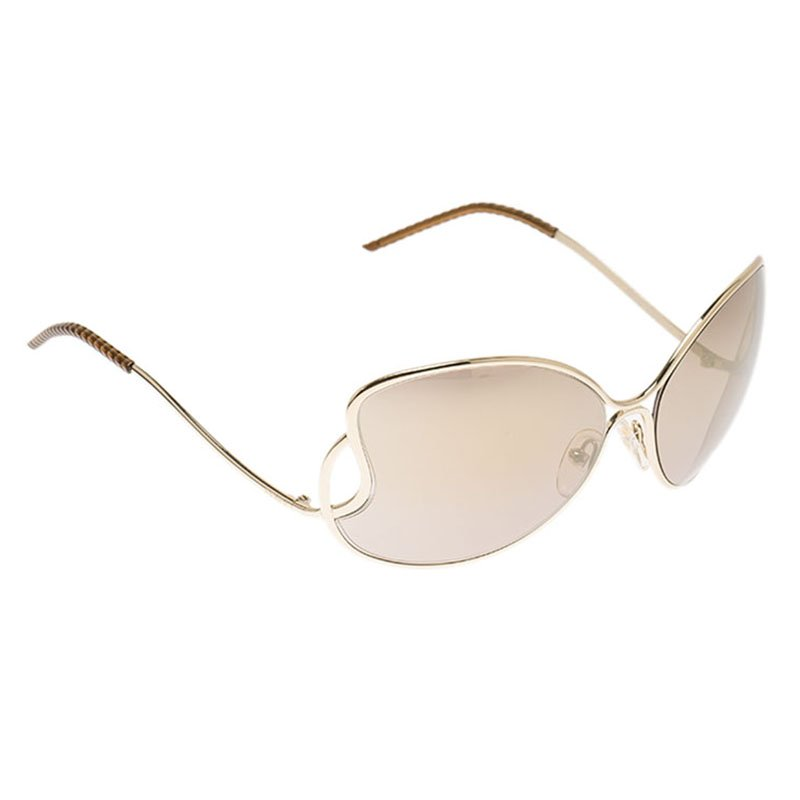 94e333719a20 Buy Fendi Gold FS5178 Metal Frame Sunglasses 89001 at best price