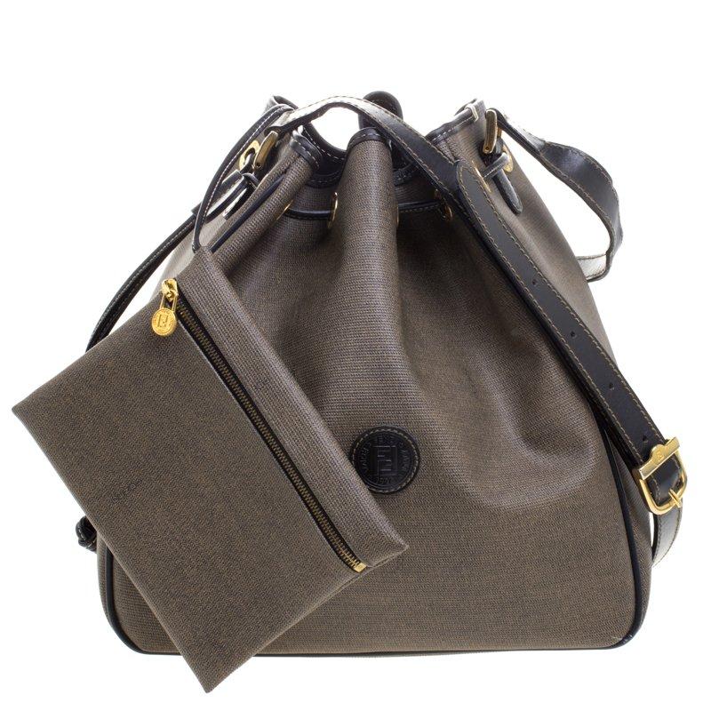 0857d3d709b0 ... Fendi Brown Coated Canvas Vintage Drawstring Bucket Bag. nextprev.  prevnext