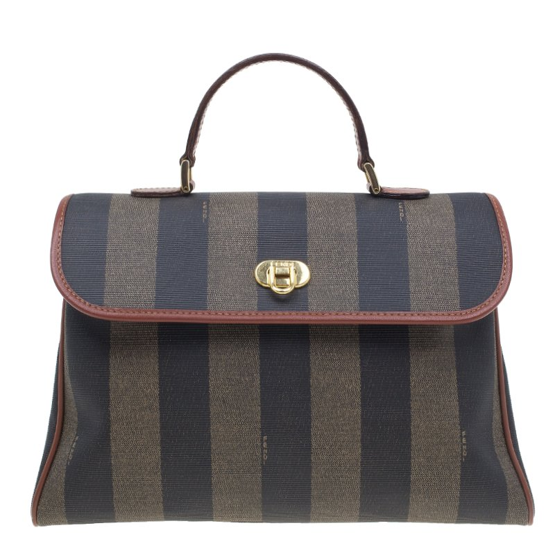 52dbba41d2ac Buy Fendi Striped Pequin Small Tote Bag 1741 at best price