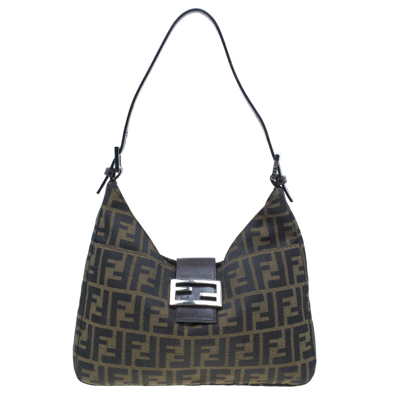 1e9b1ca59107 ... Fendi Brown Zucca Canvas Hobo bag. nextprev. prevnext