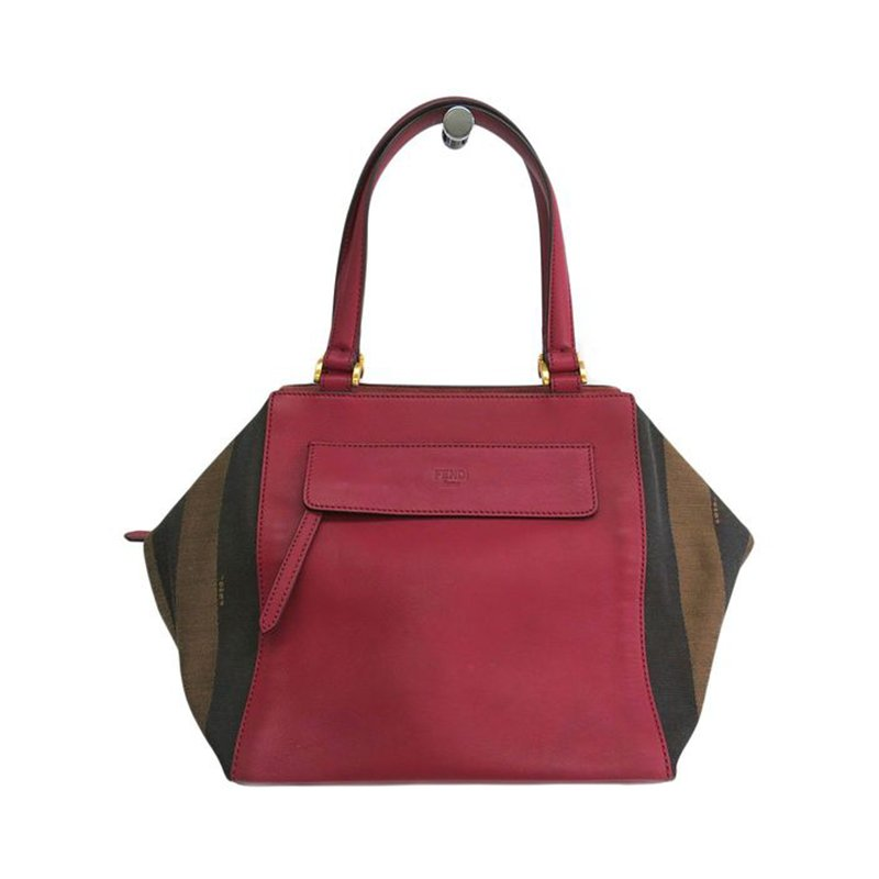 4c87fc80f7 Buy Fendi Pequin Pink Leather Pecan Hobo 45278 at best price