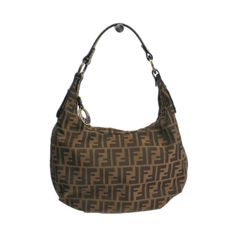 c4d37a25ae76 Buy Fendi Tobacco Zucca Canvas Chef Hobo 47666 at best price