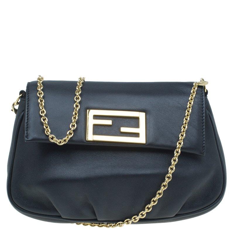 Buy Fendi Black Leather Fendista Crossbody Bag 53891 at best price  35acee59093c4