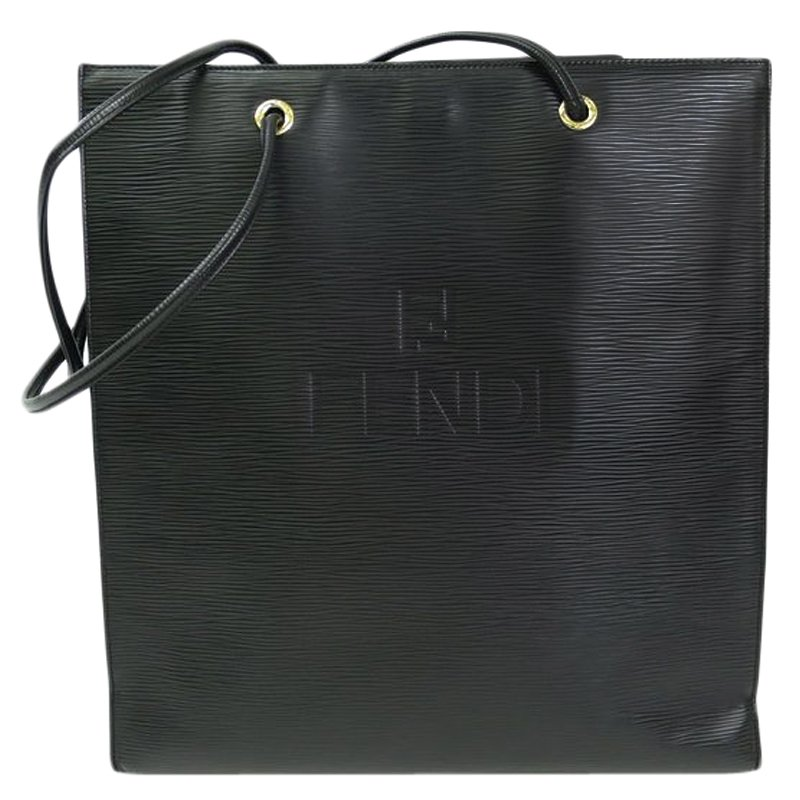 58cfea205d81 Buy Fendi Black Epi Leather Vintage Tote 59312 at best price