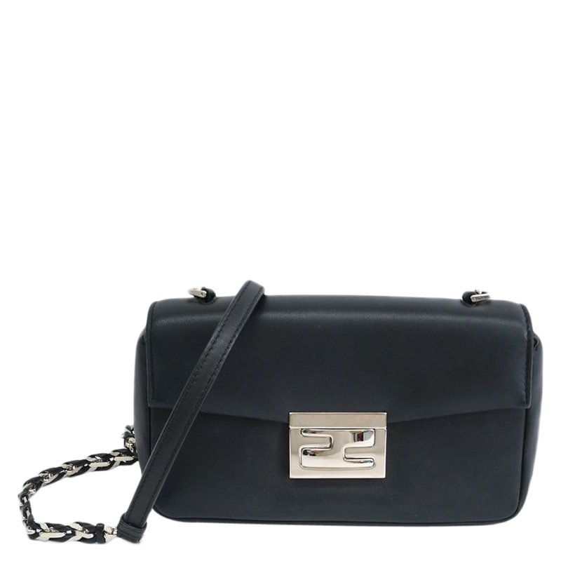 fa288b5faa6d ... Fendi Black Nappa Leather Mini Be Baguette Crossbody Bag. nextprev.  prevnext