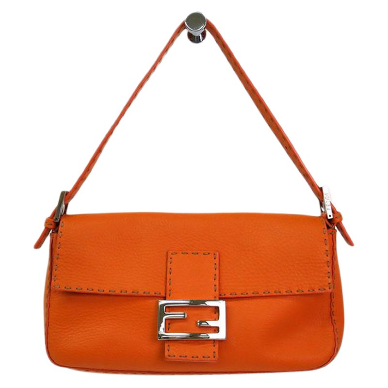c1099b6f74 ... Fendi Orange Selleria Leather Baguette Shoulder Bag. nextprev. prevnext