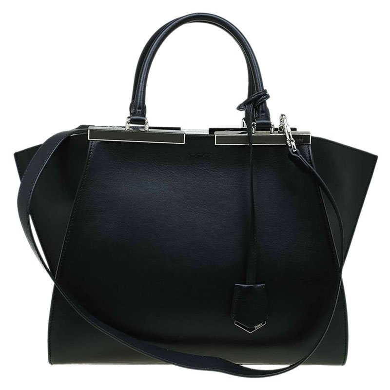 78d012d0089c Buy Fendi Black Leather 3Jours Tote 70210 at best price