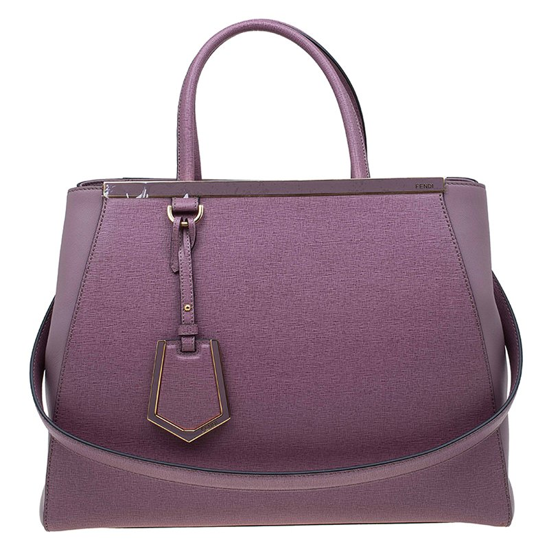 914c0f5e46 Buy Fendi Lilac Saffiano Leather 2Jours Tote 72648 at best price