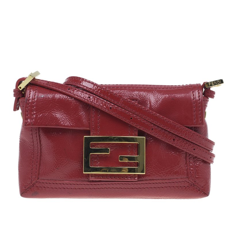 77723fda3fcb ... Fendi Red Patent Leather Mini Baguette Bag. nextprev. prevnext