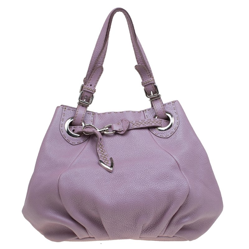 cd3dc6e012 ... Fendi Metallic Lilac Pebbled Leather Selleria Pomodorino Belt Bag.  nextprev. prevnext