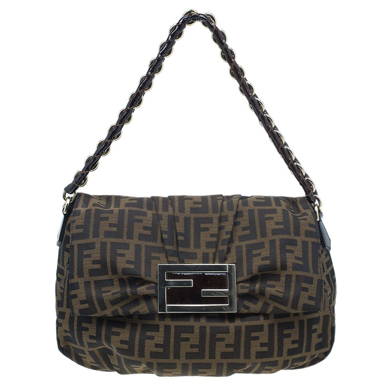Buy Fendi Classic Zucca Canvas Mia Flap Bag 831 at best price